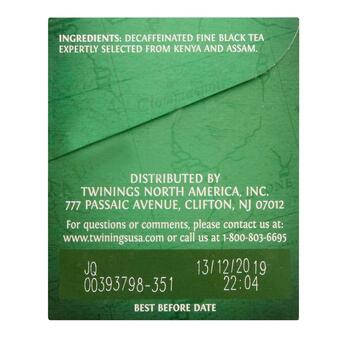 Twinings® Irish Breakfast Decaffeinated Black Tea, 6 Boxes view 2