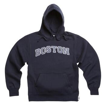 "Adult ""Boston"" Applique Hooded Pullover Sweatshirt"