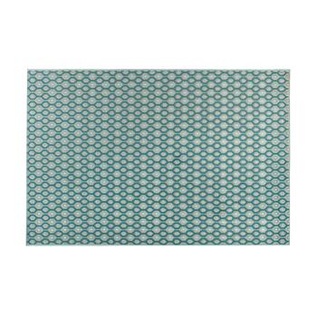 "4'7""x6'6"" Aqua Geo Indoor/Outdoor Area Rug"