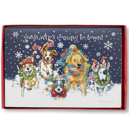 """Guess Who's Coming to Town"" Snow Dogs Christmas Cards, 18-Count view 1"