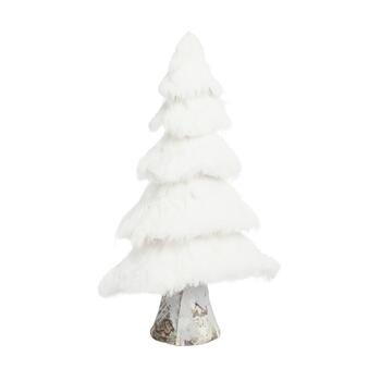 "16.75"" Glittered Snowy Pine Tree Decor"