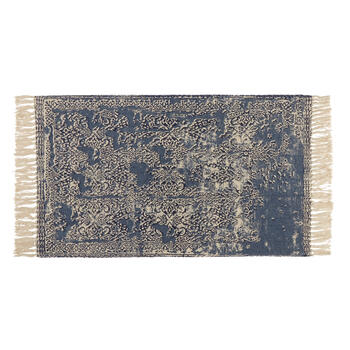 "27""x45"" Dark Blue Antique Cotton Chindi Accent Rug view 1"