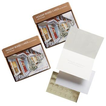 40-Count Holiday Home Greeting Cards with Seals