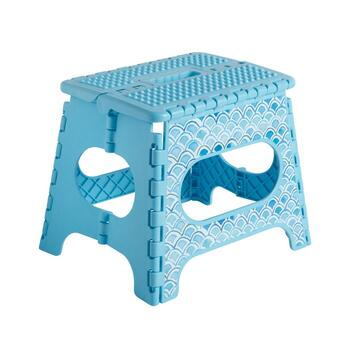 Turquoise Scale Step Stool view 1