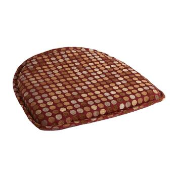 Brown/Tan Polka Dot Nonslip Chair Pad