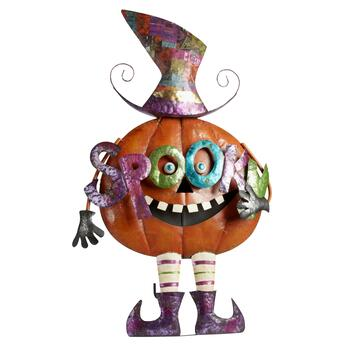 "43.5"" ""Spooky"" Pumpkin Easel-Back Decor"