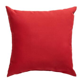 Solid Red Indoor/Outdoor Square Throw Pillow