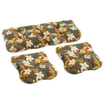 Kona Tropical Indoor/Outdoor Seat Pad Set, 3-Piece