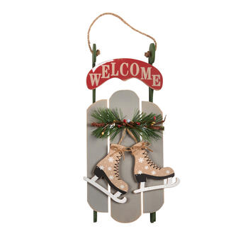 "17"" ""Welcome"" Skates Sled Wall Decor view 1"