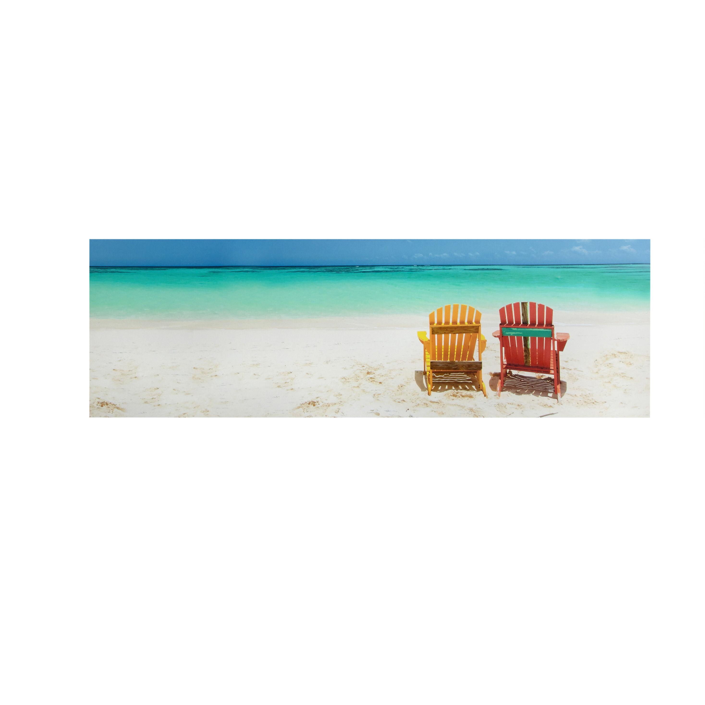 12u201dx36u201d 2 Beach Chairs Indoor/Outdoor Canvas Wall Art