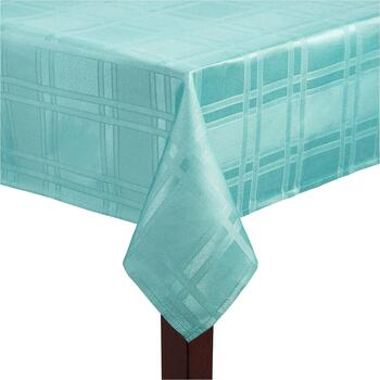 Solid Microfiber Checkered Tablecloth