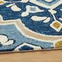 "4'5""x6'9"" Blue/Gold Kamaria Area Rug view 2"