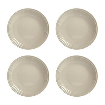 "11"" Bistro Brights Tan Dinner Plates, Set of 4"