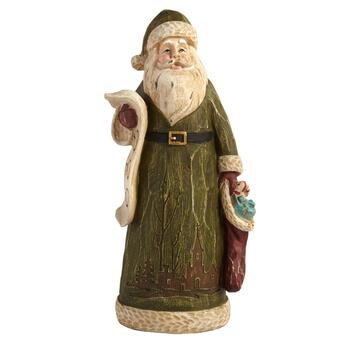 "10"" Green Poly Santa Decor"