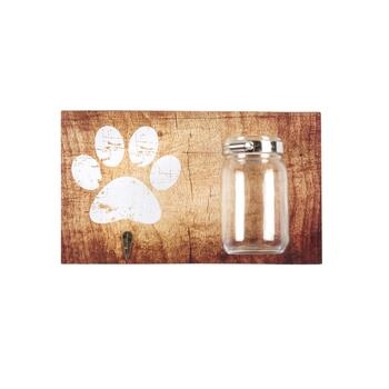 "6""x8"" Pet Leash Hook and Treat Mason Jar Wall Decor"