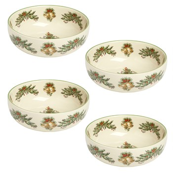Spode® Christmas Tree and Garland Cereal Bowls, Set of 4