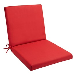 Solid Red Indoor/Outdoor Mid-Back Chair Pad