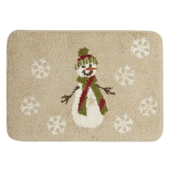Winter Snowman Bath Rug