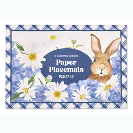 Blue & White Easter Paper Placemats, Set of 40 view 1