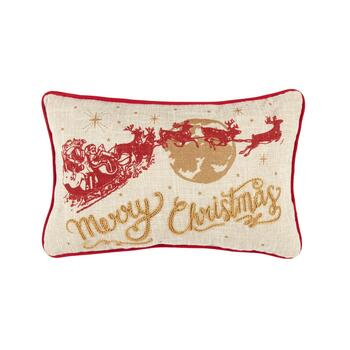 Merry Christmas Oblong Throw Pillow