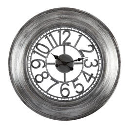 "26"" Pewter Open Dial Round Wall Clock view 1"