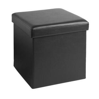 Sensational Faux Leather Folding Storage Ottoman Cjindustries Chair Design For Home Cjindustriesco
