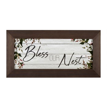 "The Grainhouse™ ""Bless"" Slatted Wall Decor"