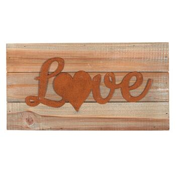 "7""x13"" ""Love"" Wood Typography Sign"