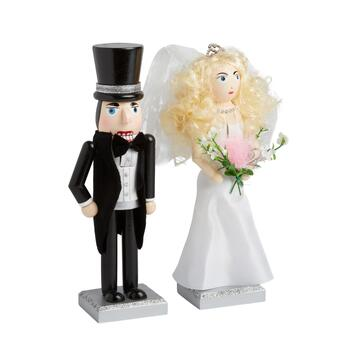 "10"" Bride and Groom Nutcrackers, Set of 2"