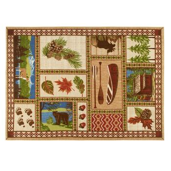 5'x7' Nature Scenes Hand-Hooked Area Rug