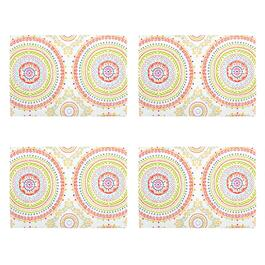 Circle Stitch Printed Placemats, Set of 4