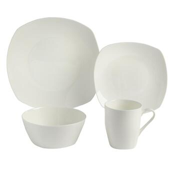 Soft White Bone China Dinnerware Collection