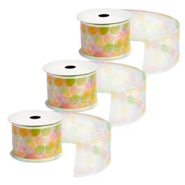 10-Yard Sheer Eggs Wired Ribbons, Set of 3