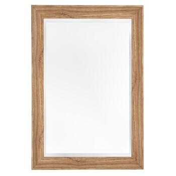 "32""x44"" Lana Natural Faux Wood Framed Mirror"