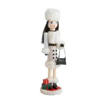 "15"" Holiday Shopper Nutcracker"