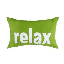 """Relax"" Indoor/Outdoor Oblong Throw Pillow"