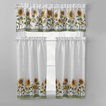 Debbie Mumm® Sunflower Tier & Valance Set