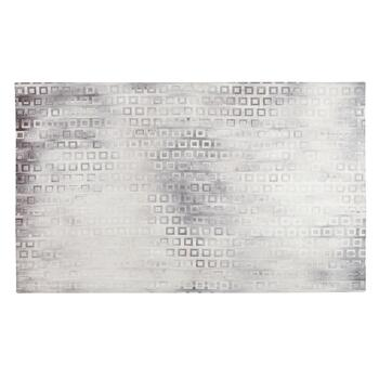 "2'3"" x 4'1"" Blue/Gray Squares Accent Rug"