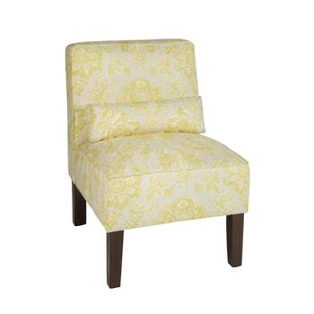 Keepsake Floral Upholstered Accent Chair with Pillow