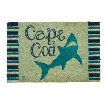 """Cape Cod"" Blue Shark Coir Mat view 1"