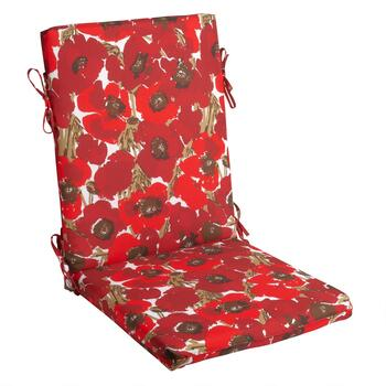 Vera® Red Blooms Indoor/Outdoor Hinged Chair Pad