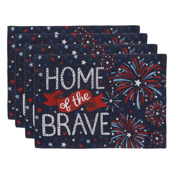"""Home of the Brave"" Fireworks Beaded Placemats, Set of 4 view 1"