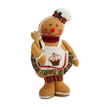"16"" Standing Gingerbread Baker with Wooden Fork"