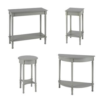Hourglass Leg Accent Table Collection