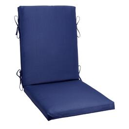 Solid Cobalt Indoor/Outdoor Hinged Chair Pad