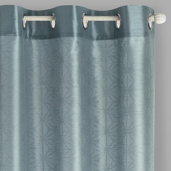 "84"" Embossed Diamond Grommet Window Curtains, Set of 2 view 1"