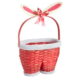 Bunny Pants Handwoven Basket