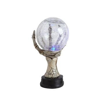 "7.25"" Crystal Ball Hand Halloween LED Light-Up Statue"