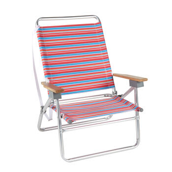 Red/Blue/White Stripes 3-Position Folding Sand Chair view 1