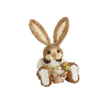 "10"" Girl Bunny Flameless Tealight Candle Holder"